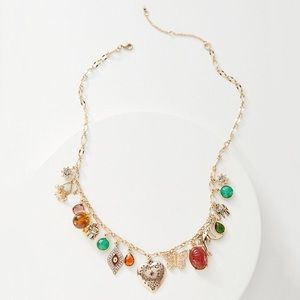 Anthropologie Bits and Baubles Charm Necklace